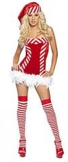 Red Stripe YYJ женской спинки костюма Кристмас костюма