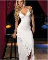 Фанфан Асимметричный ремень платье (белый)