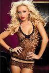 Nyi Женская Leopard Холтер сексуальное женское белье