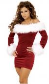 Фанфан Бато Рождество сексуальное женское белье (красный)